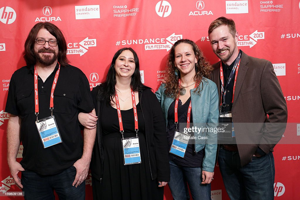Directors Aaron Aites, Audrey Ewell and Nina Krstic and producer Stephen Dotson attend the '99% - The Occupy Wall Street Collaborative Film' premiere at Egyptian Theatre during the 2013 Sundance Film Festival on January 20, 2013 in Park City, Utah.