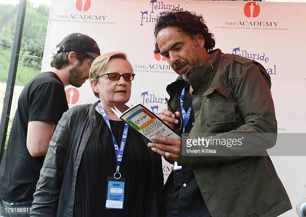 Directors Agnieszka Holland and Alejandro Gonzalez Inarritu attend the 2013 Telluride Film Festival Day 3 on August 31 2013 in Telluride Colorado