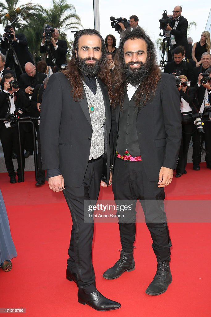 Directors Ahmad 'Tarzan' Abu Nasser (L) and Mohammed 'Arab' Abu Nasser attends the 'Sicario' premiere during the 68th annual Cannes Film Festival on May 19, 2015 in Cannes, France.