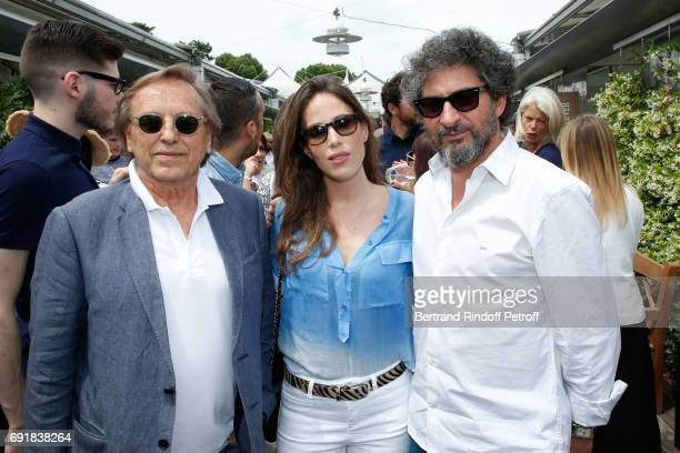 Directors Alexandre Arcady Nathalie Marchak and Radu Mihaileanu attend the 2017 French Tennis Open Day Seven at Roland Garros on June 3 2017 in Paris...