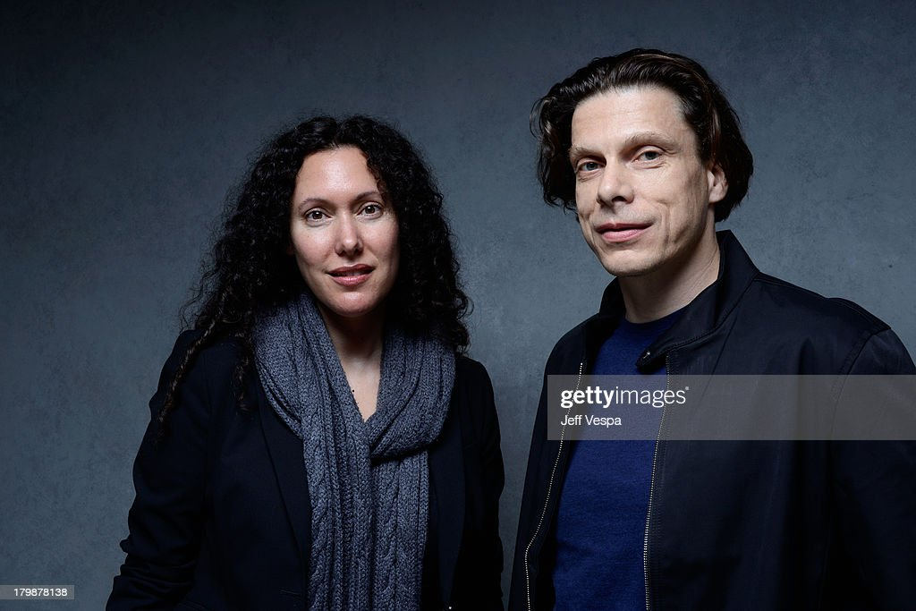 Directors Allison Berg and Frank Keraudren of 'The Dog' pose at the Guess Portrait Studio during 2013 Toronto International Film Festival on September 7, 2013 in Toronto, Canada.