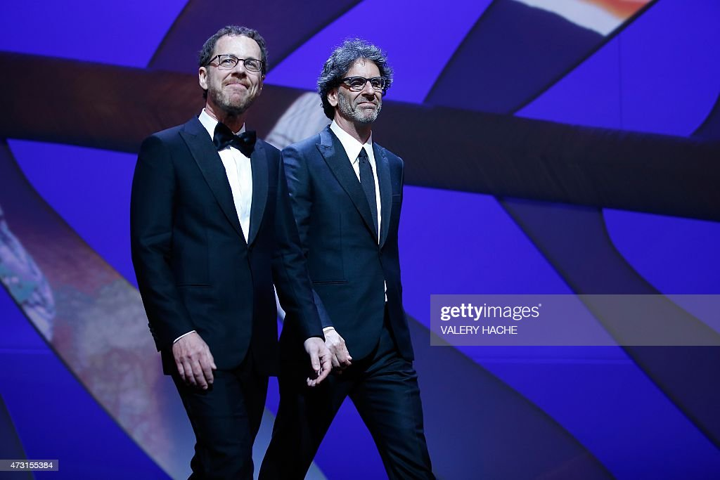 US directors and Presidents of the Feature Film jury Ethan Coen and Joel Coen arrive on stage during the opening ceremony of the 68th Cannes Film...