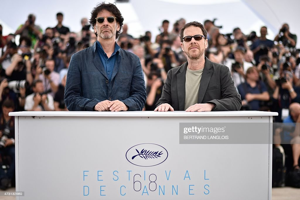 US directors and Presidents of the Feature Film jury Joel Coen and Ethan Coen pose during a photocall ahead of the opening of the 68th Cannes Film...