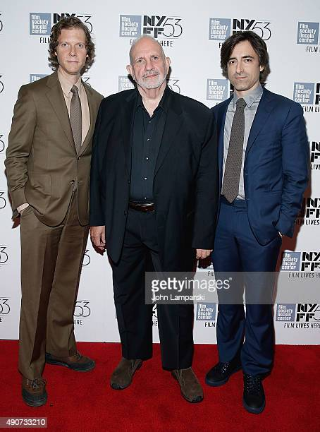 Directors and writers Jake Paltrow Brian De Palma and Noah Baumbach attend 'De Palma' during the 53rd New York Film Festival at Alice Tully Hall...