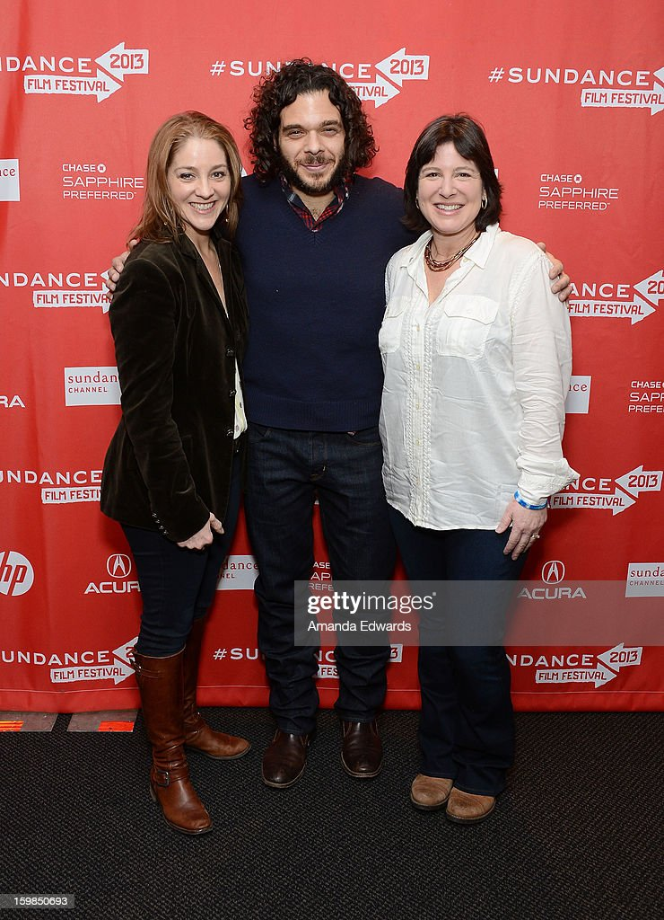 Directors Andrea Nix Fine and Sean Fine and Audrey Gordon arrive at the 2013 Sundance Film Festival Premiere of 'Life According To Sam' at Temple Theater on January 21, 2013 in Park City, Utah.