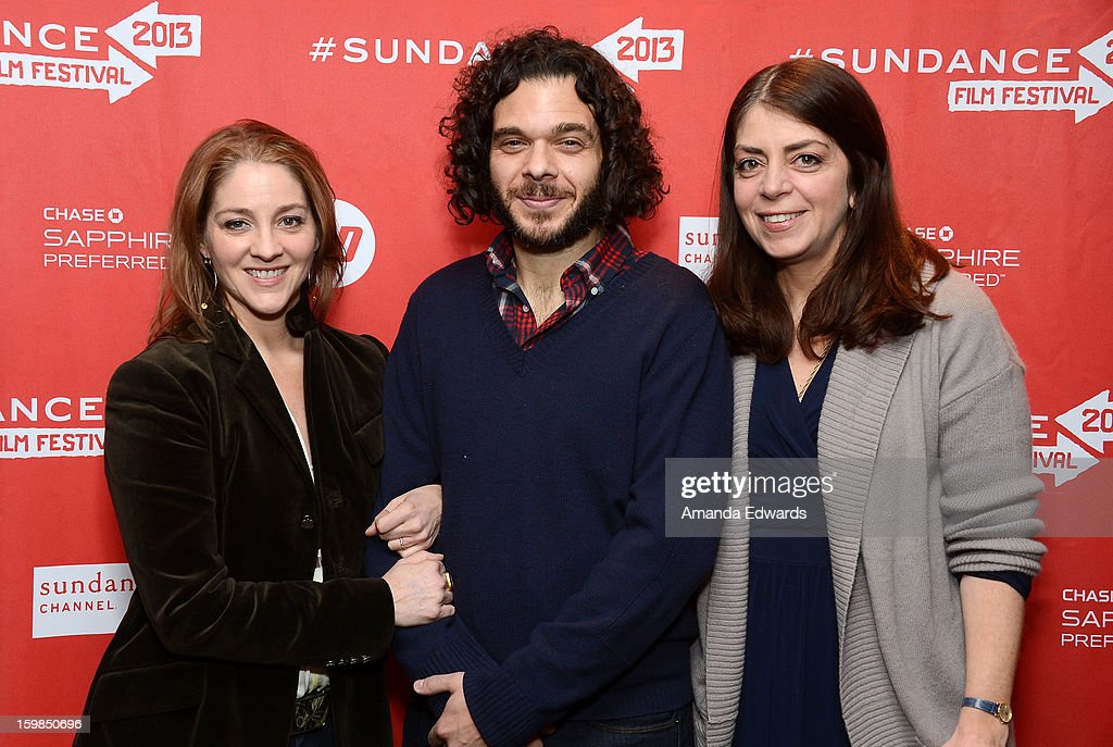 Directors Andrea Nix Fine and Sean Fine and HBO Senior Vice President of Documentary Films Nancy Abraham arrive at the 2013 Sundance Film Festival Premiere of 'Life According To Sam' at Temple Theater on January 21, 2013 in Park City, Utah.