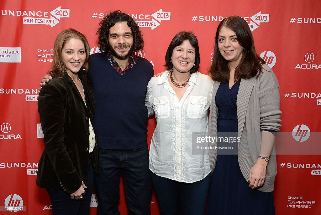 Directors Andrea Nix Fine and Sean Fine, Audrey Gordon and HBO Senior Vice President of Documentary Films Nancy Abraham arrive at the 2013 Sundance Film Festival Premiere of 'Life According To Sam' at Temple Theater on January 21, 2013 in Park City, Utah.