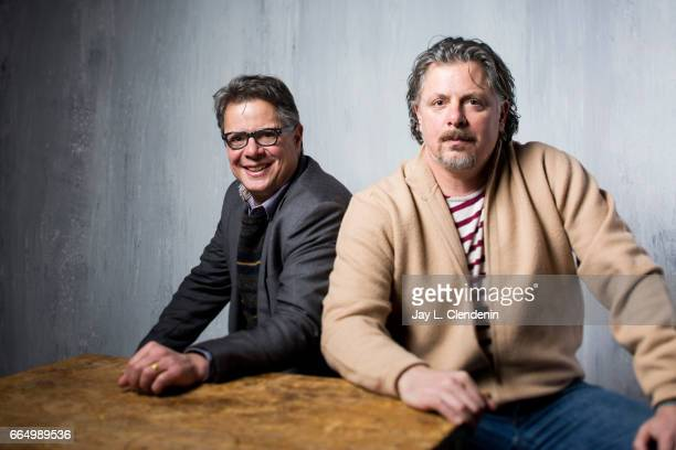 Directors Andrew Smith and Alex Smith from the film 'Walking Out' are photographed at the 2017 Sundance Film Festival for Los Angeles Times on...