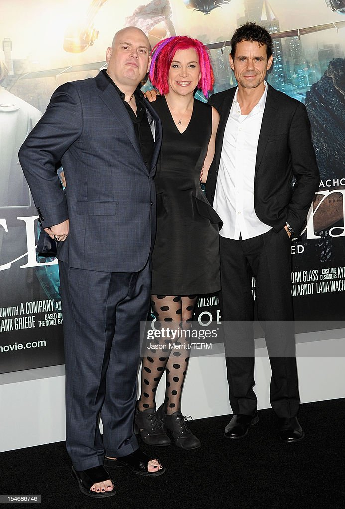 Directors Andy Wachowski Lana Wachowski and Tom Tykwer arrive at Warner Bros Pictures' 'Cloud Atlas' premiere at Grauman's Chinese Theatre on October...