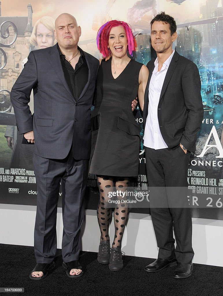 Director's Andy Wachowski Lana Wachowski and Tom Tykwer arrive at the Los Angeles premiere of 'Cloud Atlas' at Grauman's Chinese Theatre on October...