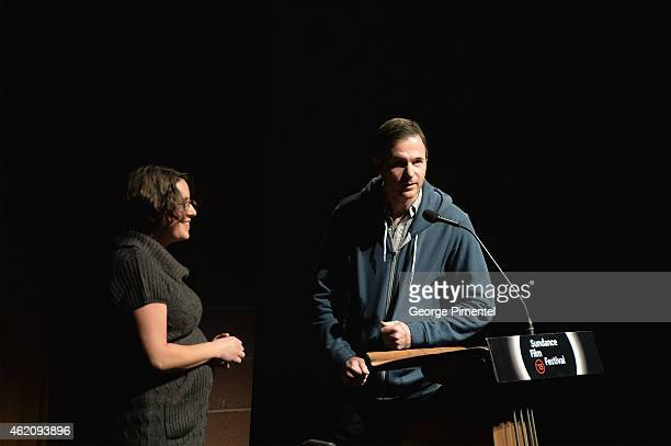 Directors Anna Boden and Ryan Fleck attend the 'Mississippi Grind' premiere during the 2015 Sundance Film Festival on January 24 2015 in Park City...