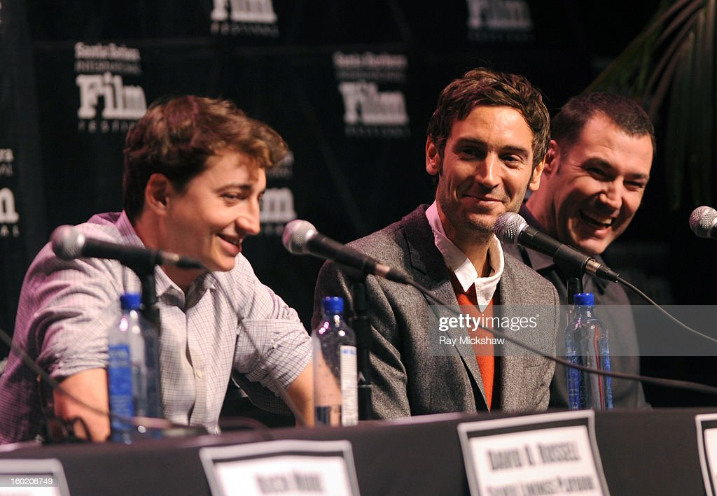 Directors Behn Zeitlin, Malik Bendjelloul and Mark Andrews attend the 28th Santa Barbara International Film Festival Directors Panel on January 26, 2013 in Santa Barbara, California.