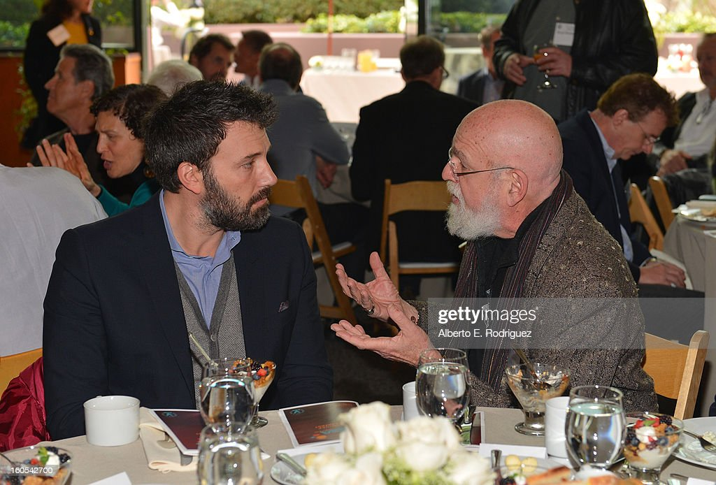 Directors <a gi-track='captionPersonalityLinkClicked' href=/galleries/search?phrase=Ben+Affleck&family=editorial&specificpeople=201856 ng-click='$event.stopPropagation()'>Ben Affleck</a> and <a gi-track='captionPersonalityLinkClicked' href=/galleries/search?phrase=Jeremy+Kagan&family=editorial&specificpeople=552674 ng-click='$event.stopPropagation()'>Jeremy Kagan</a> attend the 65th Annual Directors Guild of America Awards President's Breakfast held at the DGA on February 2, 2013 in Los Angeles, California.