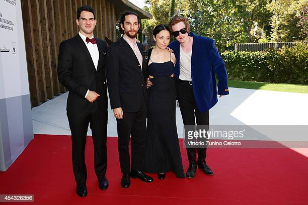 Directors Ben Safdie and Joshua Safdie actors Arielle Holmes and Caleb Landry Jones attend the 'Heaven Knows What' Premiere during the 71st Venice...