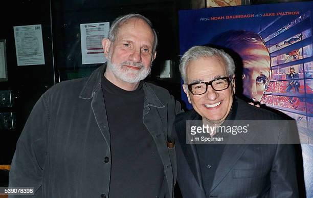 Directors Brian De Palma and Martin Scorsese attend the 'De Palma' New York screening at DGA Theater on June 9 2016 in New York City