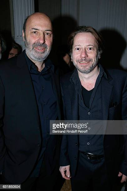 Directors Cedric Klapisch and Mathieu Amalric attend the 'Cesar Revelations 2017' Photocall and Cocktail at Chaumet on January 16 2017 in Paris France