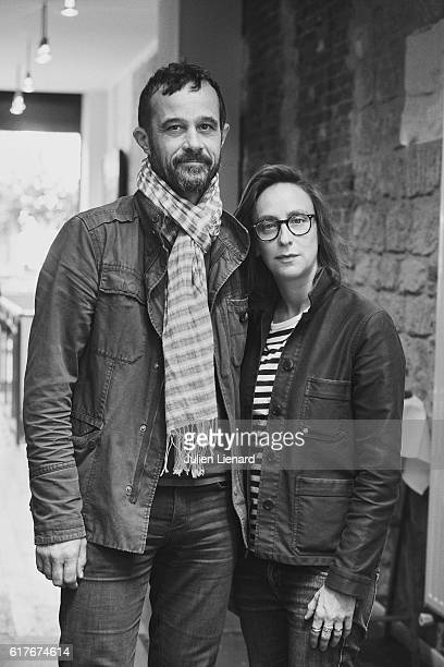 Directors Celine Sciamma and Claude Barras are photographed for Le Film Francais on October 14 2016 in Paris France