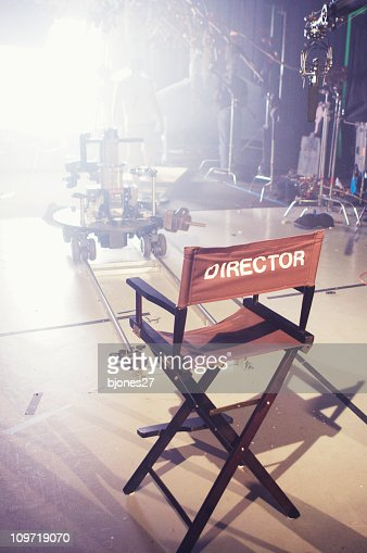 Director's Chair on Movie and Television Set