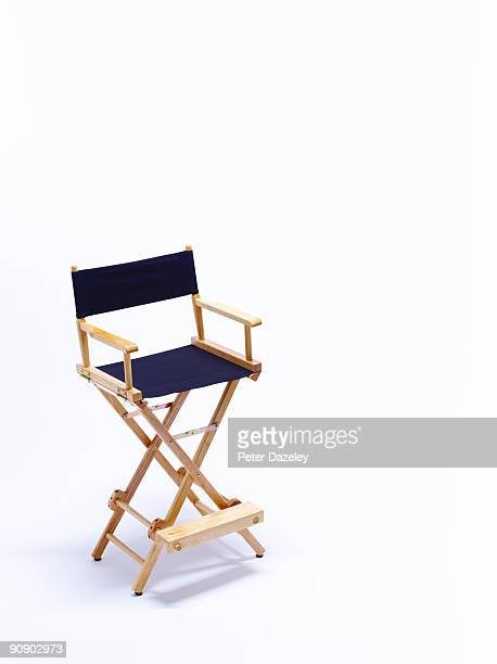 Directors chair on white background