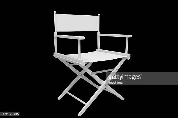Director's Chair - Plastic / White (with Clipping Path)