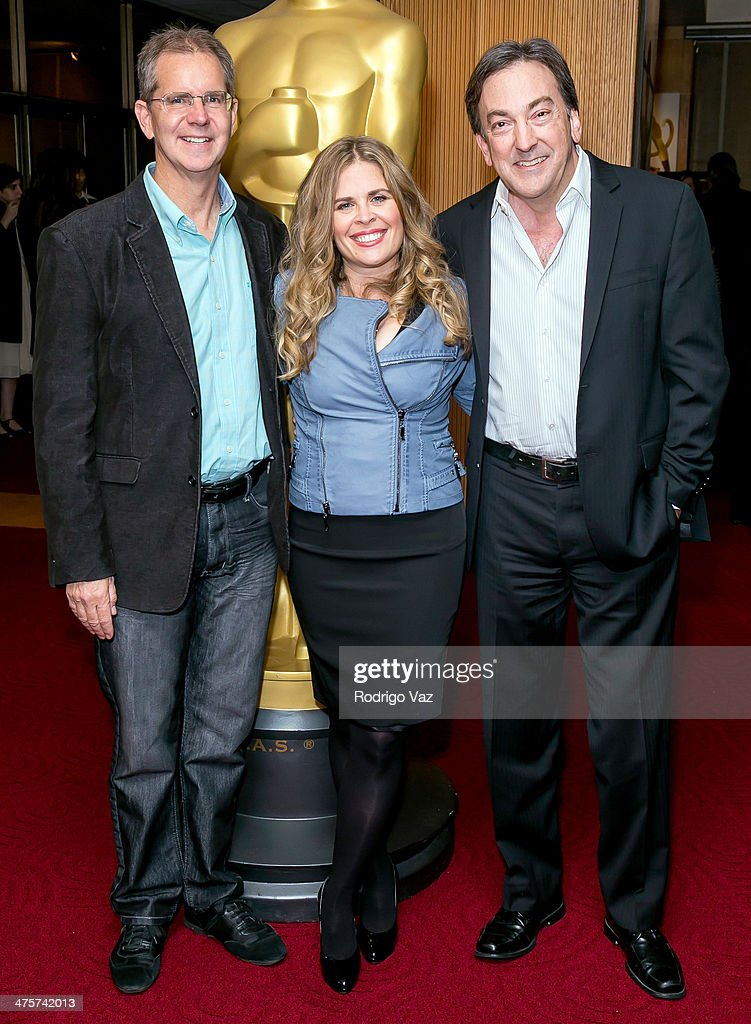 Directors Chris Buck and Jennifer Lee and producer Peter Del Vecho attend the 86th Annual Academy Awards Oscar Week Celebrates Animated Features at...