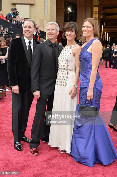 Directors Chris Sanders Kirk DeMicco producers Kristine Belson and Jane Hartwel attends the Oscars held at Hollywood Highland Center on March 2 2014...