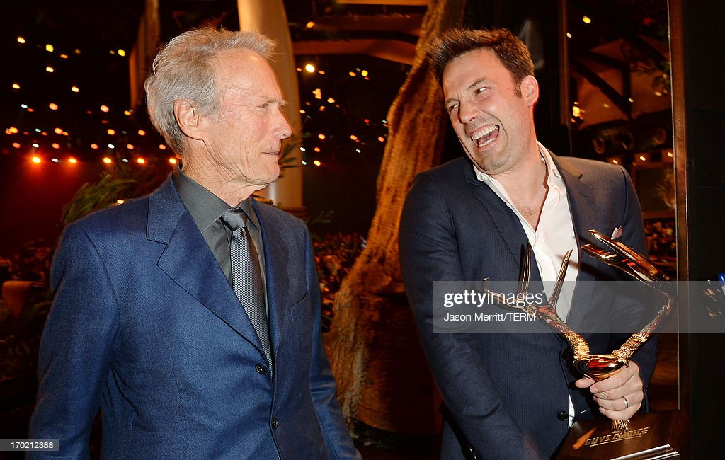 Directors <a gi-track='captionPersonalityLinkClicked' href=/galleries/search?phrase=Clint+Eastwood&family=editorial&specificpeople=201795 ng-click='$event.stopPropagation()'>Clint Eastwood</a> (L) and <a gi-track='captionPersonalityLinkClicked' href=/galleries/search?phrase=Ben+Affleck&family=editorial&specificpeople=201856 ng-click='$event.stopPropagation()'>Ben Affleck</a> attend Spike TV's Guys Choice 2013 at Sony Pictures Studios on June 8, 2013 in Culver City, California.