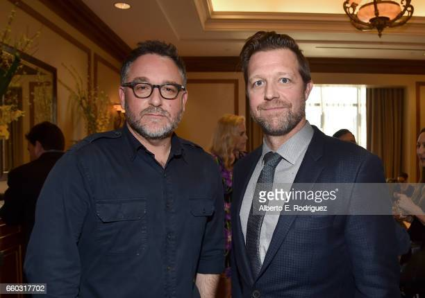 Directors Colin Trevorrow and David Leitch at CinemaCon 2017 Focus Features Celebrating 15 Years and a Bright Future at Caesars Palace during...