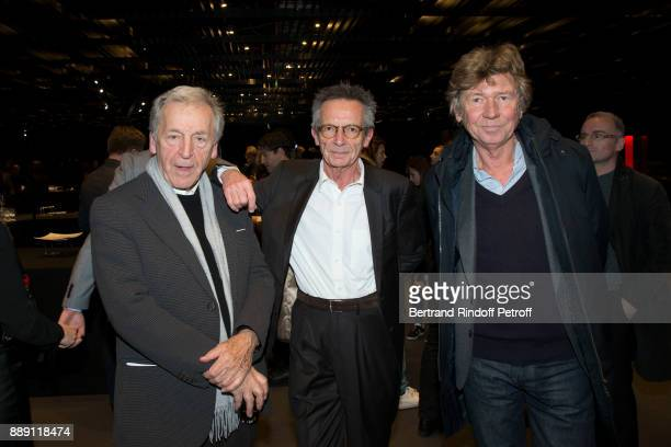 Directors Costa Gavras Patrice Leconte and Etienne Chatiliez attend 'The Celebration of Gabriel Yared 's Film Music' at Philharmonie De Paris on...