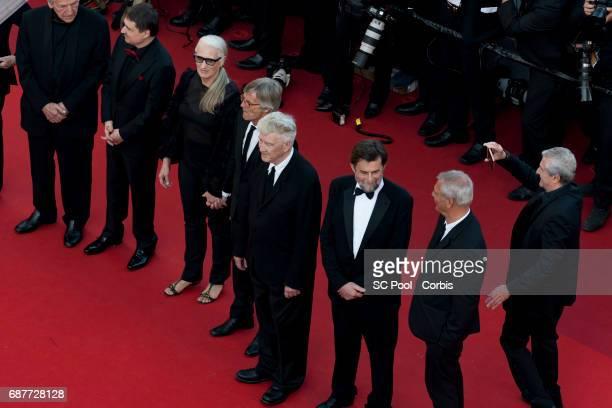 Directors CostaGavras Cristian Mungiu Jane Campion Bille August David Lynch Nanni Moretti and Claude Lelouch attend the 70th Anniversary of the 70th...