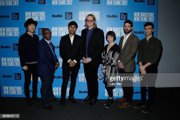 Directors Dalei Zhang Yance Ford Deepak Rauniyar Geremy Jasper Eliza Hittman Joshua Z Weinstein and Ricky Ambrose attend the New Directors/New Films...