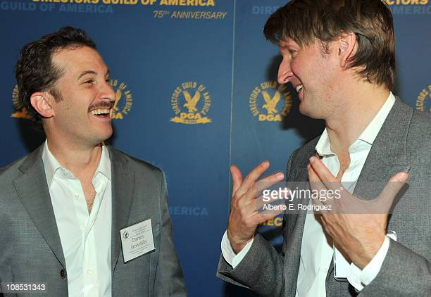 Directors Darren Aronofsky and Tom Hooper attend the 63rd Annual Directors Guild of America Awards Meet the Nominees Breakfast held at the DGA on...