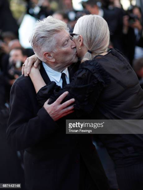 Directors David Lynch and Jane Campion attend the 70th Anniversary of the 70th annual Cannes Film Festival at Palais des Festivals on May 23 2017 in...