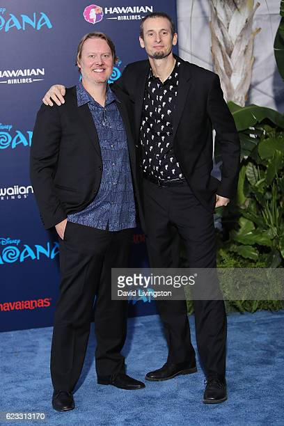 Directors Don Hall and Chris Williams arrive at the AFI FEST 2016 presented by Audi premiere of Disney's 'Moana' held at the El Capitan Theatre on...