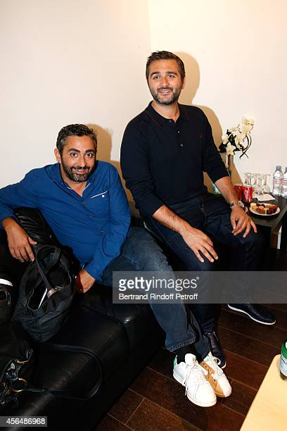 Directors Eric Toledano and Olivier Nakache attend the 'Vivement Dimanche' show at Pavillon Gabriel on October 1 2014 in Paris France