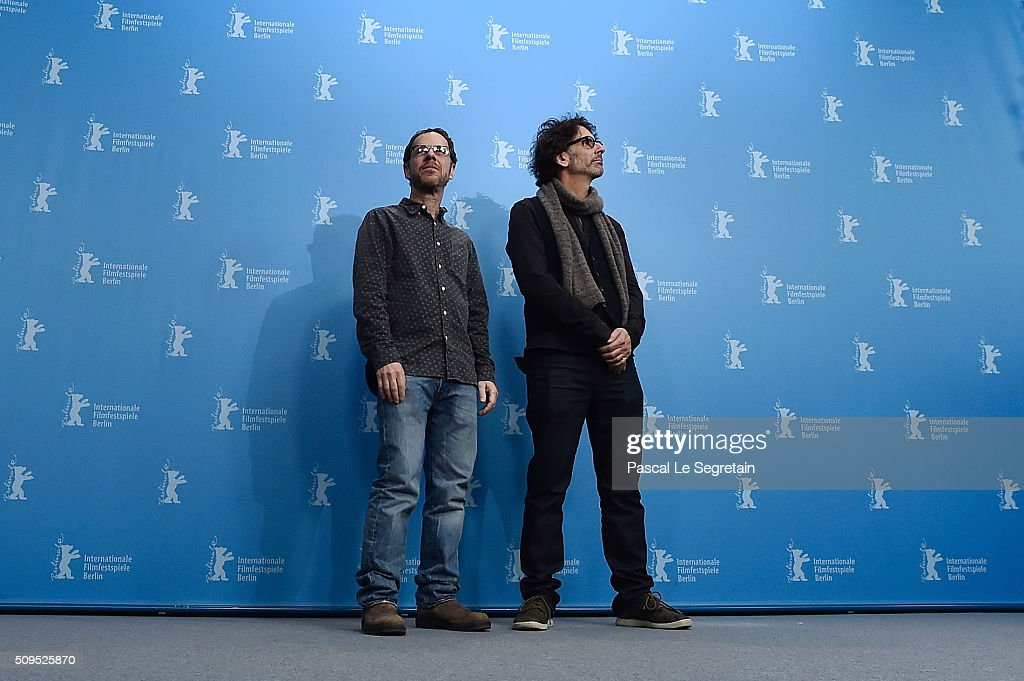 Directors Ethan and <a gi-track='captionPersonalityLinkClicked' href=/galleries/search?phrase=Joel+Coen&family=editorial&specificpeople=4292064 ng-click='$event.stopPropagation()'>Joel Coen</a> attend the 'Hail, Caesar!' photo call during the 66th Berlinale International Film Festival Berlin at Grand Hyatt Hotel on February 11, 2016 in Berlin, Germany.