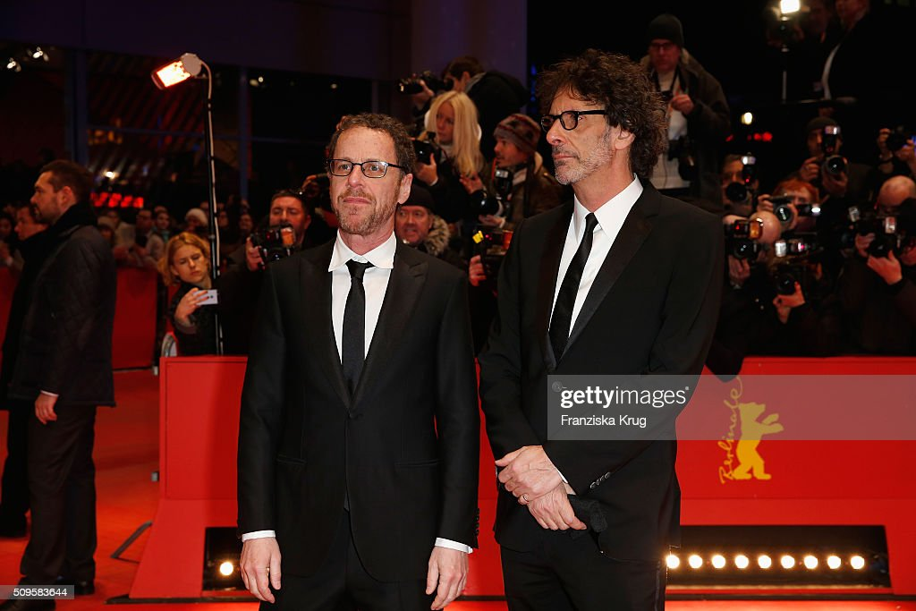 Directors Ethan and <a gi-track='captionPersonalityLinkClicked' href=/galleries/search?phrase=Joel+Coen&family=editorial&specificpeople=4292064 ng-click='$event.stopPropagation()'>Joel Coen</a> attend the 'Hail, Caesar!' premiere during the 66th Berlinale International Film Festival Berlin at Berlinale Palace on February 11, 2016 in Berlin, Germany.