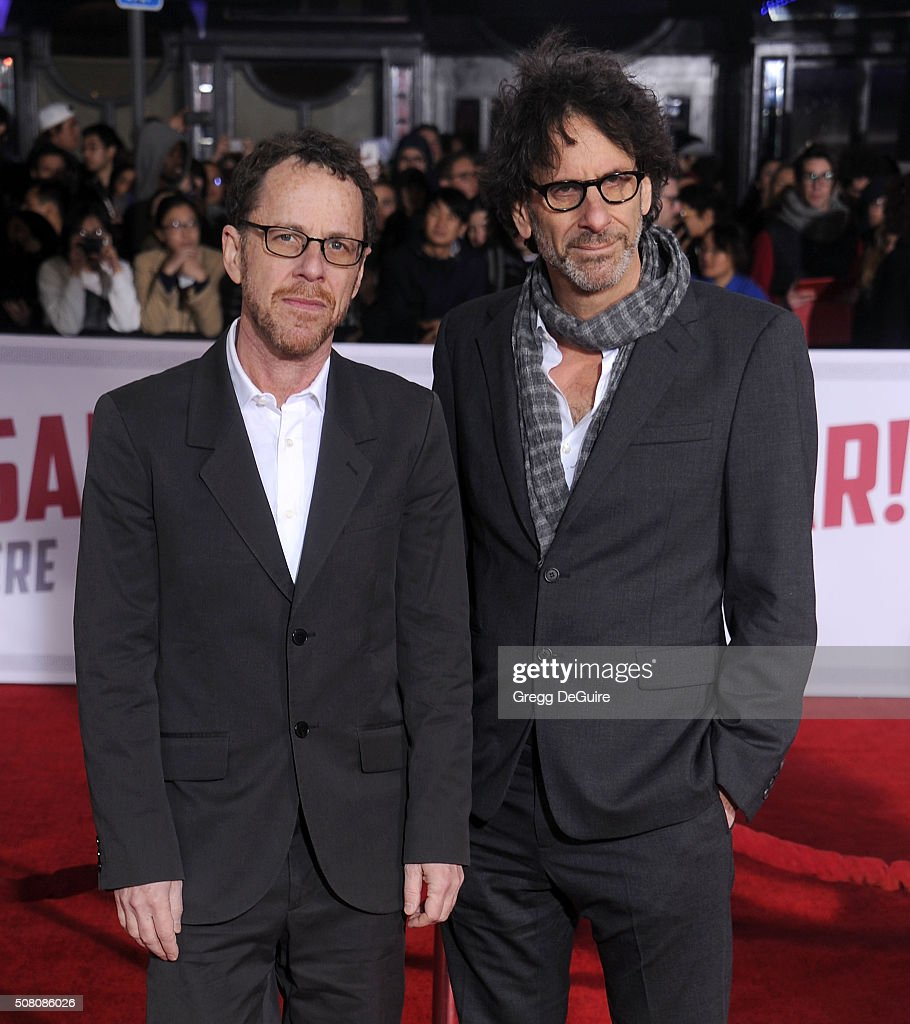 Directors <a gi-track='captionPersonalityLinkClicked' href=/galleries/search?phrase=Ethan+Coen&family=editorial&specificpeople=1130888 ng-click='$event.stopPropagation()'>Ethan Coen</a> and <a gi-track='captionPersonalityLinkClicked' href=/galleries/search?phrase=Joel+Coen&family=editorial&specificpeople=4292064 ng-click='$event.stopPropagation()'>Joel Coen</a> arrive at the premiere of Universal Pictures' 'Hail, Caesar!' at Regency Village Theatre on February 1, 2016 in Westwood, California.