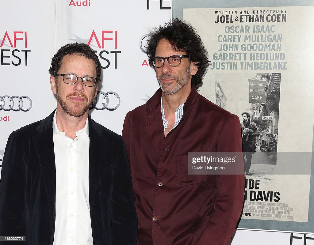 Directors Ethan Coen and Joel Coen attend the AFI FEST 2013 presented by Audi Closing Night Gala Screening of 'Inside Llewyn Davis' at the TCL...