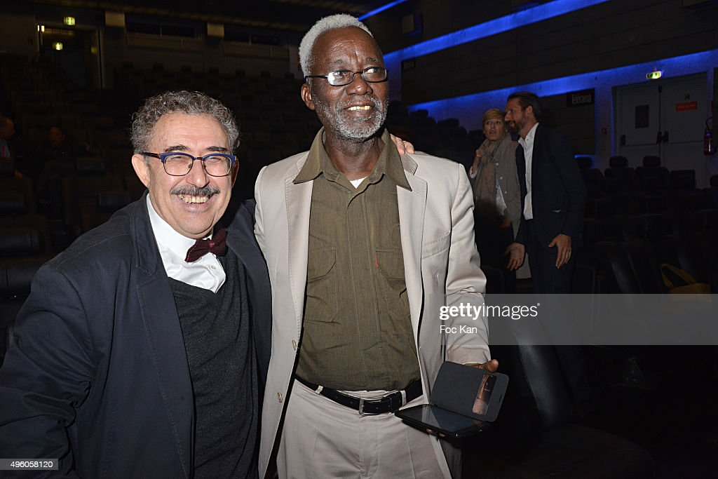 Directors Farid Boughdir and <a gi-track='captionPersonalityLinkClicked' href=/galleries/search?phrase=Souleymane+Cisse&family=editorial&specificpeople=606860 ng-click='$event.stopPropagation()'>Souleymane Cisse</a> attend the 'Carthage Film Festival 2015' JCC Press Conference at Institut du Monde Arabe on November 6, 2015 in Paris, France.