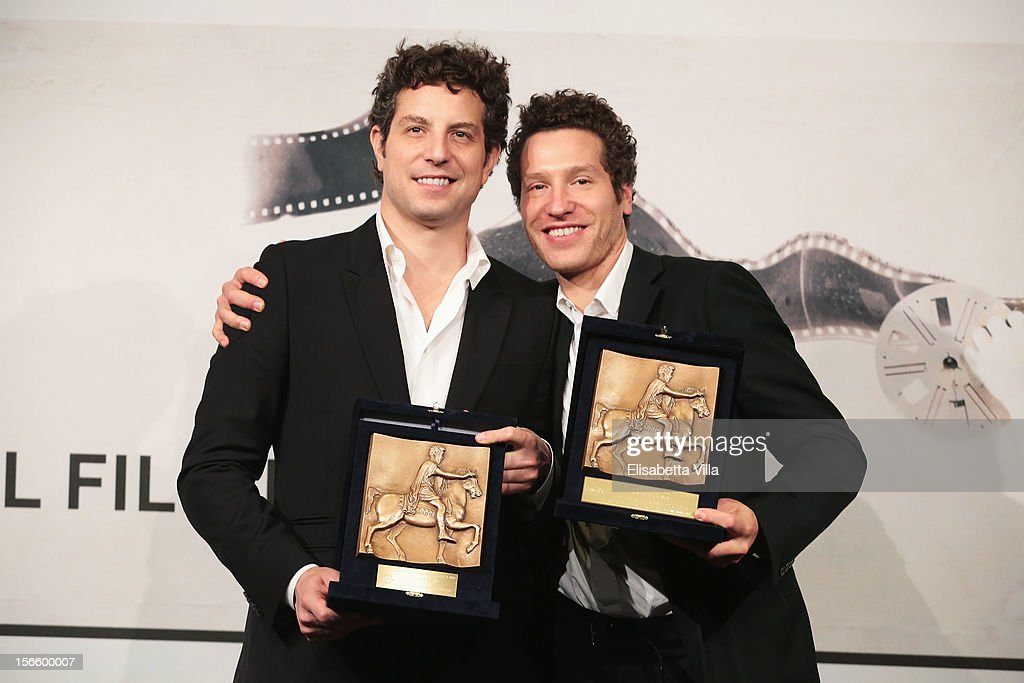 Directors Gabriel Polsky and Alan Polsky pose with their BNL Audience Award for Best Film during the Award Winners Photocall during the 7th Rome Film Festival at Auditorium Parco Della Musica on November 17, 2012 in Rome, Italy.