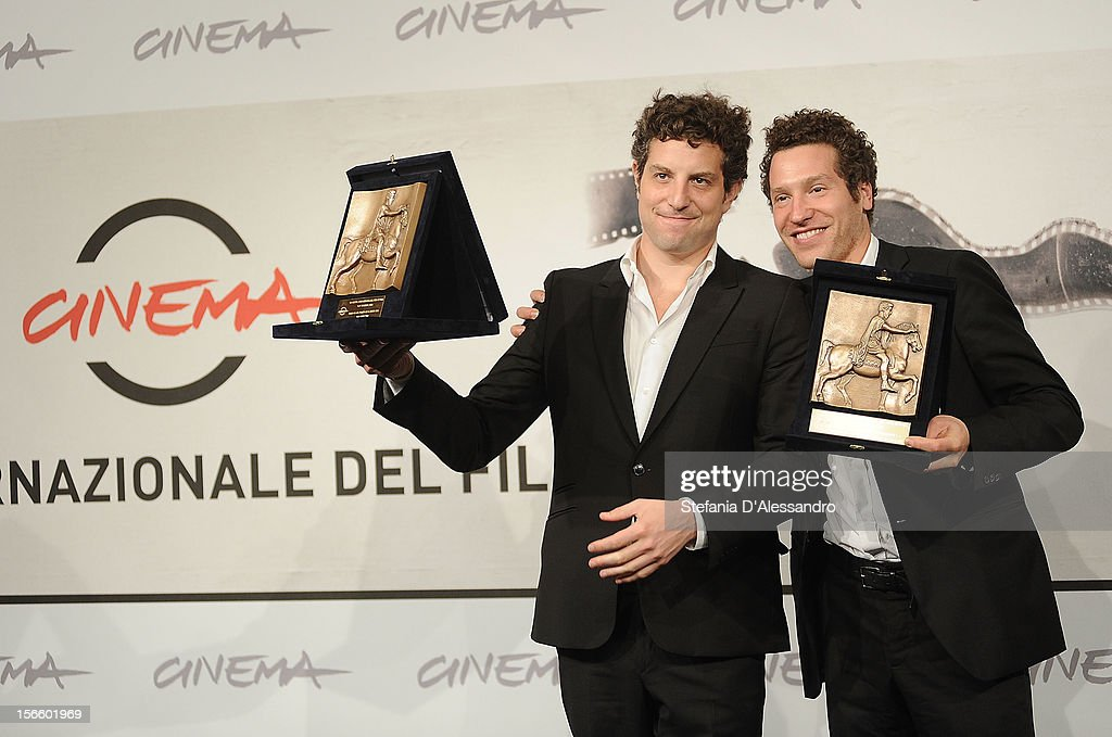 Directors Gabriel Polsky and Alan Polsky pose with their BNL Audience Award for Best Film during the Award Winners Photocall on November 17, 2012 in Rome, Italy.
