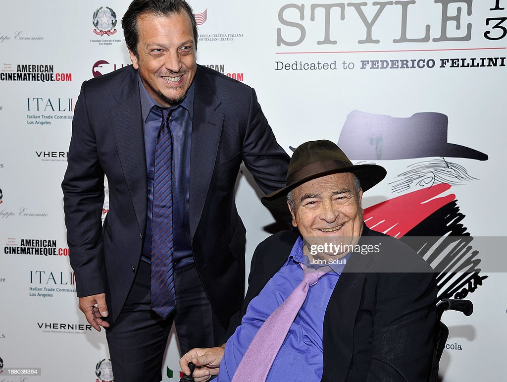 Directors Gabriele Muccino and Bernardo Bertolucci attend Cinema Italian Style 2013 'The Great Beauty' opening night premiere at the Egyptian Theatre on November 14, 2013 in Hollywood, California.