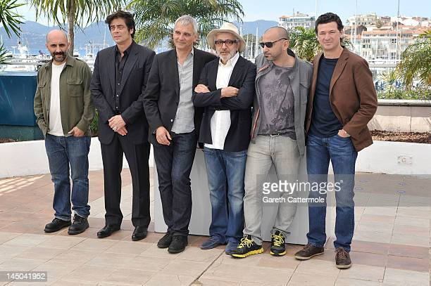Directors Gaspar Noe Benicio Del Toro Laurent Cantet Elia Suleiman Pablo Trapero and Julio Medem attend the '7 Dias En La Habana' Photocall during...