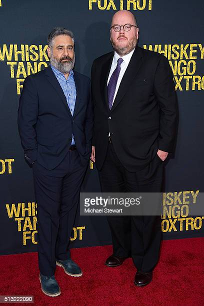 Directors Glenn Ficarra and John Requa attend the 'Whiskey Tango Foxtrot' World Premiere at AMC Loews Lincoln Square 13 theater on March 1 2016 in...