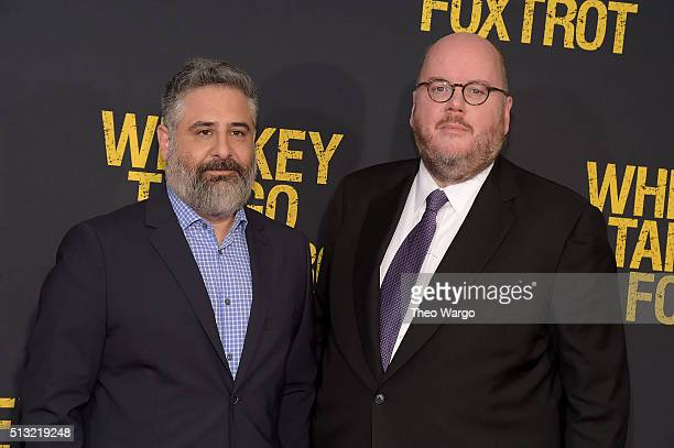 Directors Glenn Ficarra and John Requa attend the 'Whiskey Tango Foxtrot' world premiere Arrivals at AMC Loews Lincoln Square 13 theater on March 1...