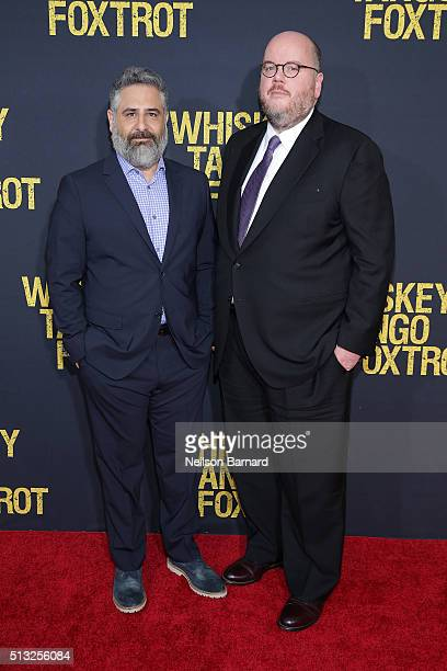 Directors Glenn Ficarra and John Requa attend the World Premiere of the Paramount Pictures title 'Whiskey Tango Foxtrot' on March 1 2016 at AMC Loews...