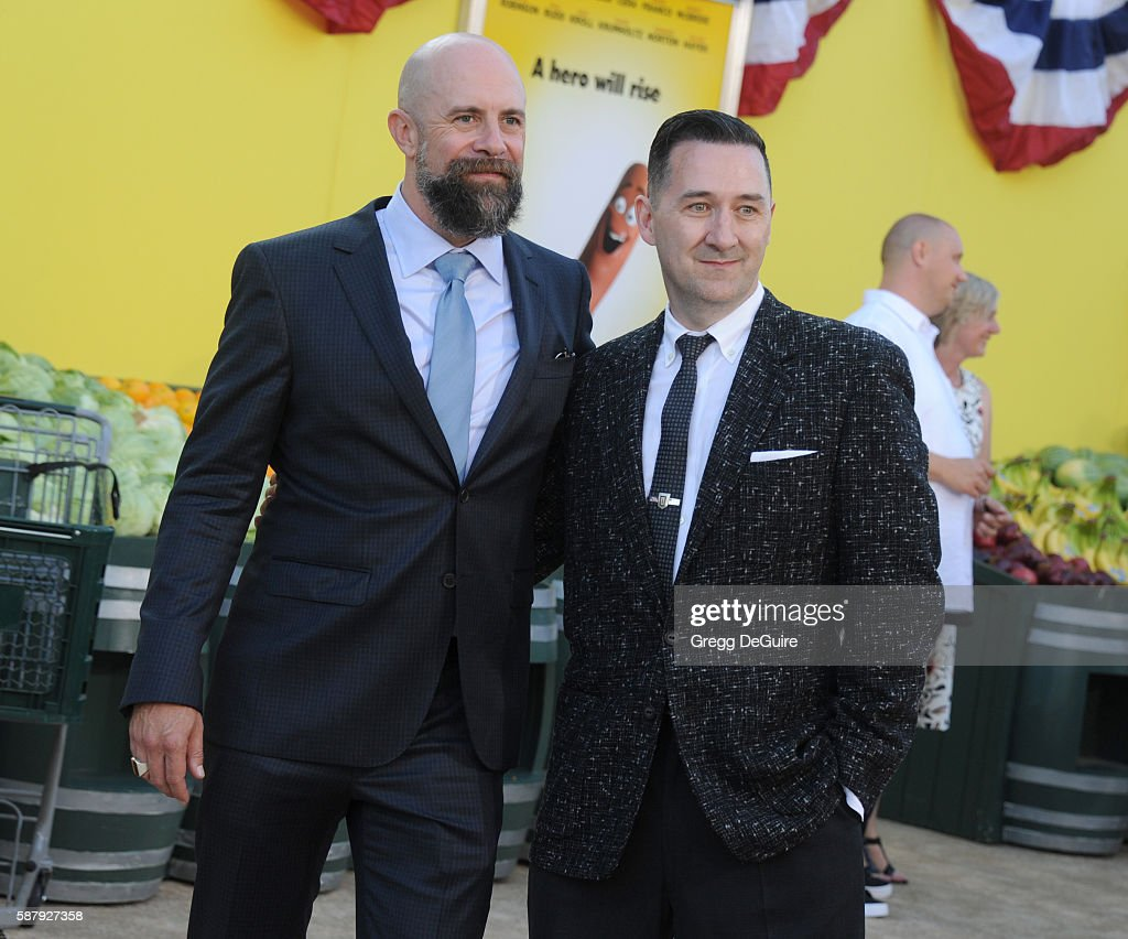 Directors Greg Tiernan and Conrad Vernon arrive at the premiere of Sony's 'Sausage Party' at Regency Village Theatre on August 9 2016 in Westwood...
