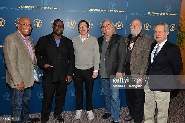 Directors Guild of America President Paris Barclay directors Steve McQueen David O Russell Paul Greengrass and Jeremy Kagan and Directors Guild of...