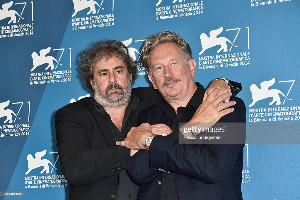 Directors Gustave Kervern and Benoit Delepine attend the 'Near Death Experience' - Photocall during the 71st Venice Film Festival on September 1, 2014 in Venice, Italy.